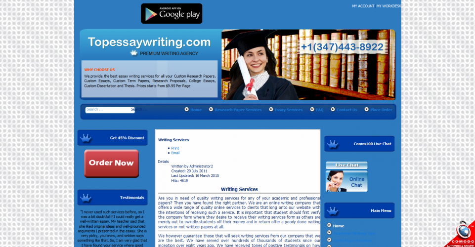 Topessaywriting.com