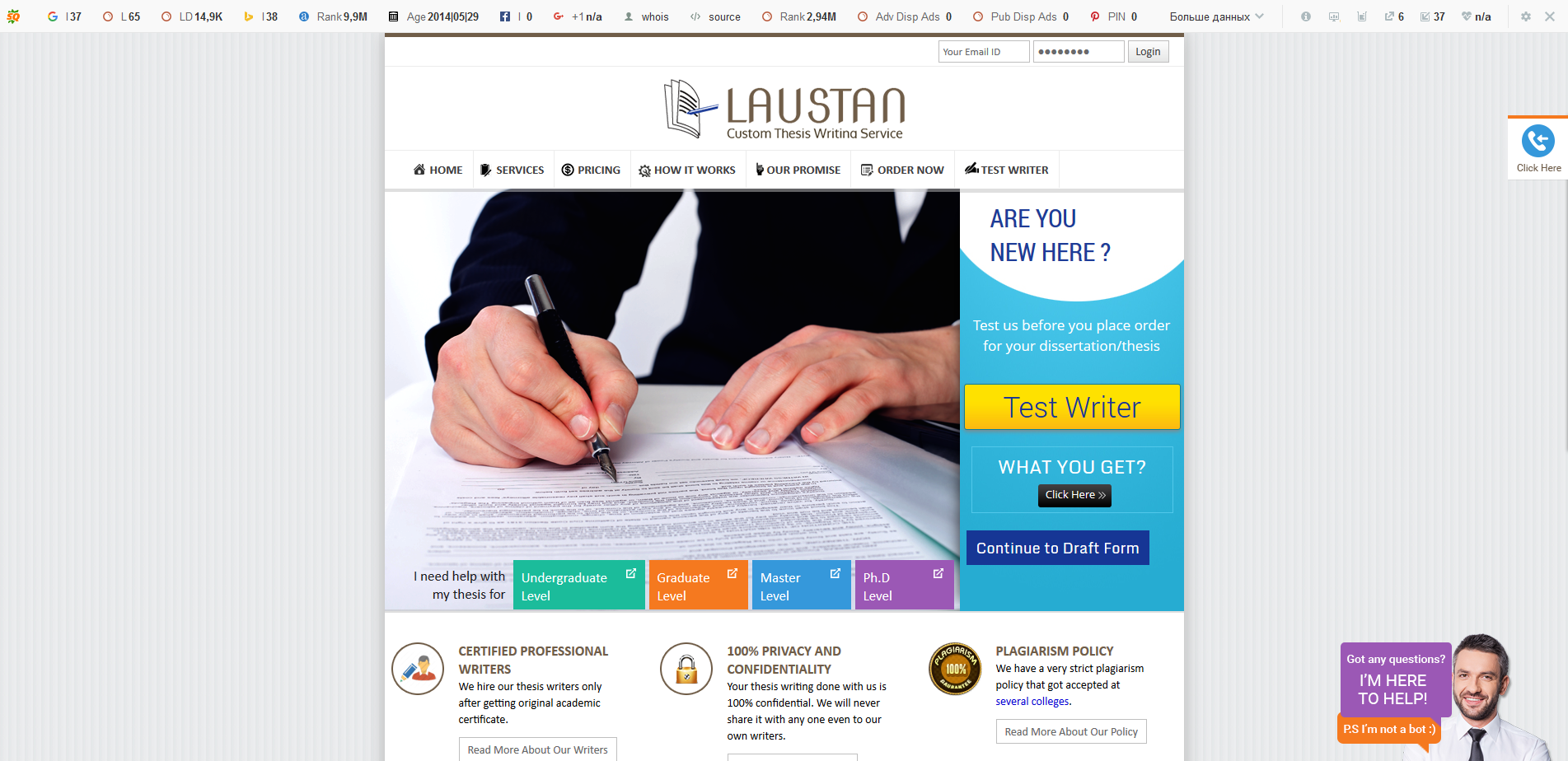 myessaywriting.com review The essay writing industry is a source of interesting statistical data california, new york and texas are the most popular regions where orders were coming from.